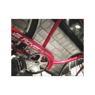 Vintage Red Bicycle #2 Rustic Industrial Canvas