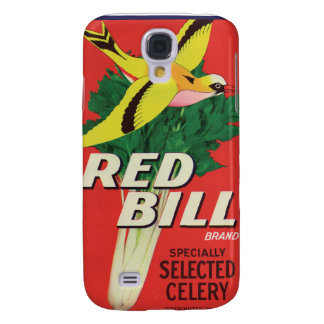 Vintage Red Bill Celery Label Samsung Galaxy S4 Cases