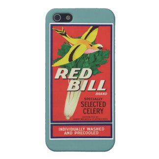 Vintage Red Bill Celery Label iPhone 5 Case