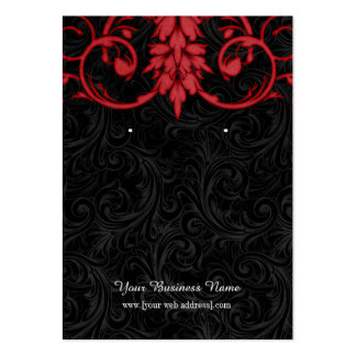 Vintage Red Black Custom Earring Card Pack Of Chubby Business Cards