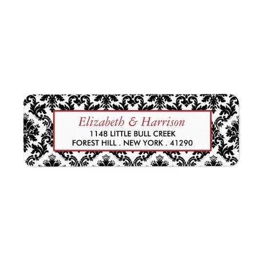 Vintage Red, Black & White Damask Wedding