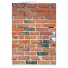 Vintage Red Brick Wall Texture Card