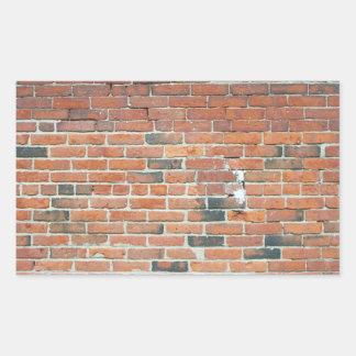 Vintage Red Brick Wall Texture Rectangular Sticker