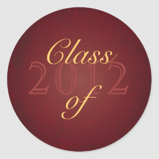 Vintage Red Class of Graduation Sticker