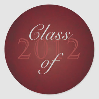 Vintage Red Class of Silver Graduation Sticker