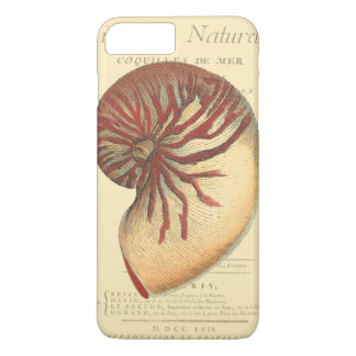 Vintage Red Conch Shell iPhone 8 Plus/7 Plus Case