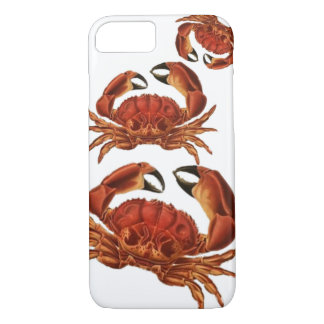 Vintage Red Crabs Crustacean Shellfish Pinchers iPhone 8/7 Case