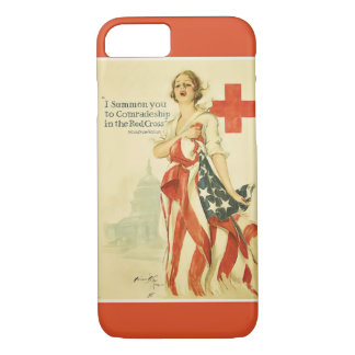 Vintage Red Cross iPhone 7 cover