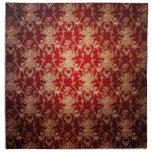 Vintage Red Damask Napkins