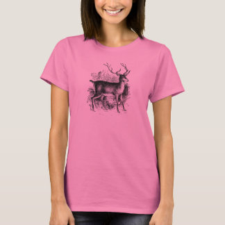 Vintage Red Deer Stag Personalized Template T-Shirt