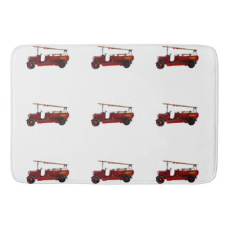 Vintage_Red_Fire_Truck_Large_Memory_Foam_Bath_Mat Bath Mats