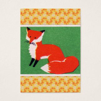 Vintage Red Fox Print Business Card