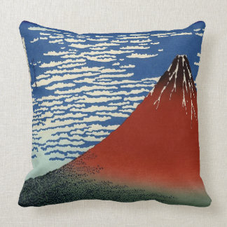 Vintage Red Fuji Throw Pillow