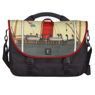 Vintage Red Funnel Tobacco Ad Ephemera SteamShip Laptop Bags