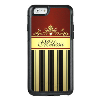 Vintage Red Gold Black OtterBox iPhone 6/6s Case