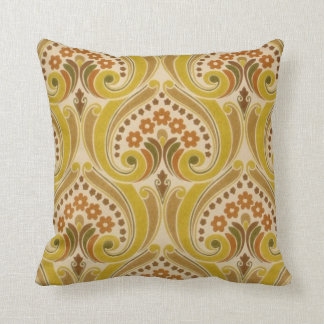 Vintage Red Gold Wallpaper Pattern Cushion