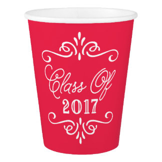 Vintage Red | Graduation Paper Cup