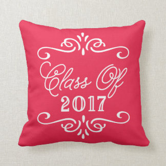 Vintage Red | Graduation Throw Pillow
