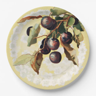 Vintage Red Grapes Paper Plates