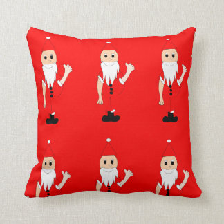 Vintage Red Merry Christmas Santa Claus Cushions