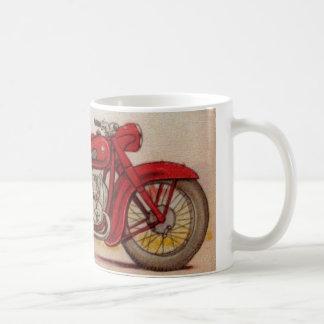 Vintage Red Motorcycle Basic White Mug