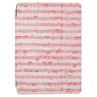 Vintage Red Musical Sheet iPad Air Cover