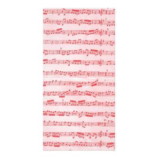 Vintage Red Musical Sheet Photo Greeting Card
