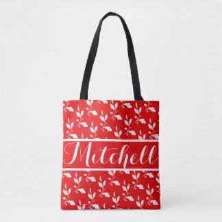 Vintage Red Oak Personalizedd Tote Bag