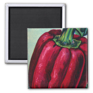 Vintage Red Pepper Magnet
