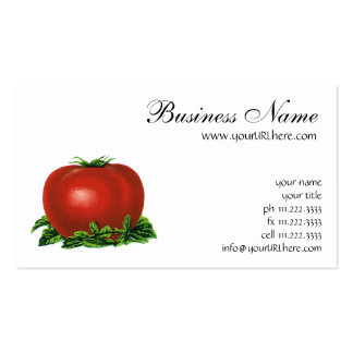 Vintage Red Ripe Tomato, Fruits and Vegetables Pack Of Standard Business Cards