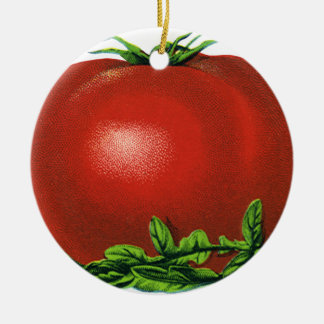Vintage Red Ripe Tomato, Vegetables and Fruits Christmas Ornament