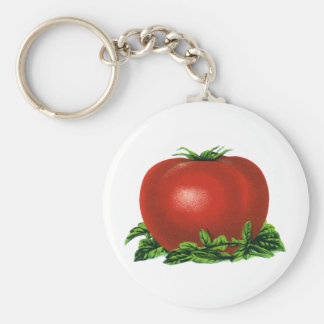Vintage Red Ripe Tomato, Vegetables and Fruits Key Ring
