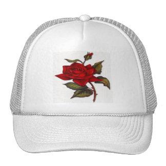 Vintage Red Rose Cap
