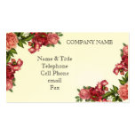Vintage Red Roses Business Card