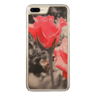 Vintage Red Roses Carved iPhone 8 Plus/7 Plus Case