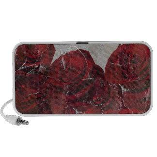 Vintage Red Roses Oil Pallete Texture Mini Speakers