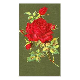 Vintage Red Roses Pack Of Standard Business Cards