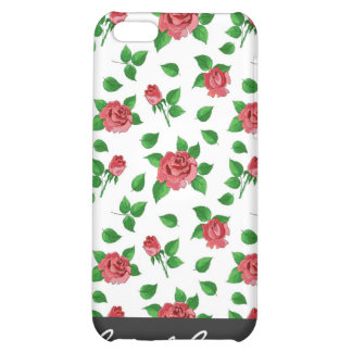 Vintage Red Roses Pattern iPhone 4 Speck Case iPhone 5C Cover