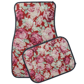 vintage red roses,victorian,floral,romantic,girly, floor mat