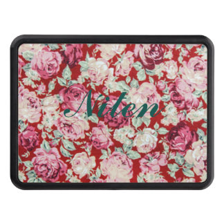 vintage red roses,victorian,floral,romantic,girly, trailer hitch covers