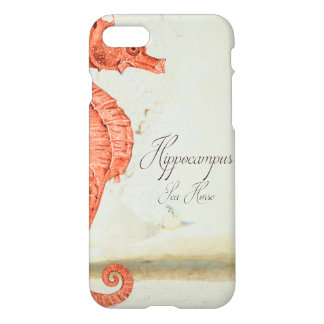 Vintage Red Sea Horse iPhone 7 Case