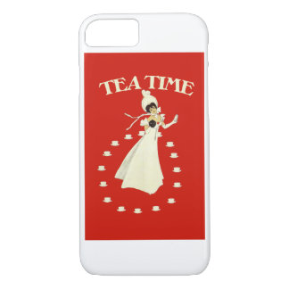 Vintage red tea time iPhone 7 case
