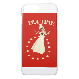 Vintage red tea time iPhone 7 plus case