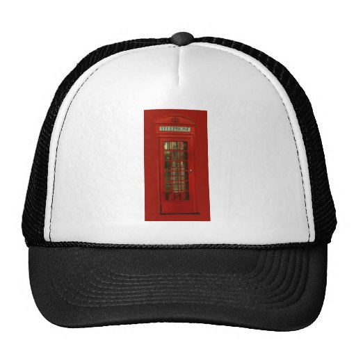 Vintage Red Telephone Box Hat