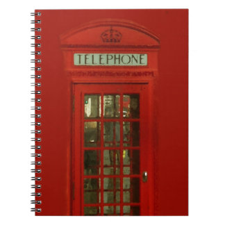 Vintage Red Telephone Box Spiral Note Book