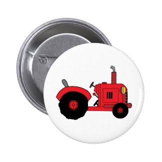 vintage red tractor pin