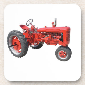 Vintage Red Tractor Drink Coaster