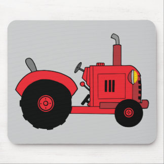 vintage red tractor mouse mat