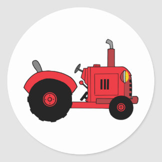 vintage red tractor stickers
