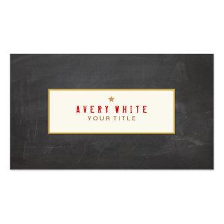 Vintage Red Typewriter Font Black Chalkboard Pack Of Standard Business Cards